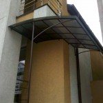 Awning with monolith polycarbonate