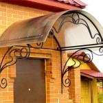 Awning from polycarbonate