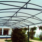 Terrace with polycarbonate