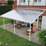Terrace with cover from polycarbonate