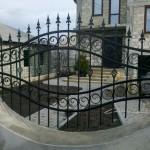 Gard cu elemente forjate