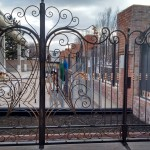 Gate with forged elements